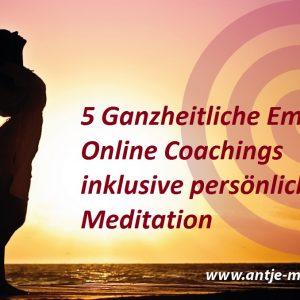 5 Online-Coachings inklusive persönlicher Meditation